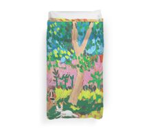 Dog Day in the Park Duvet Cover