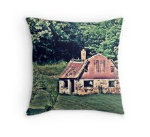 Red Barn Out Throw Pillow