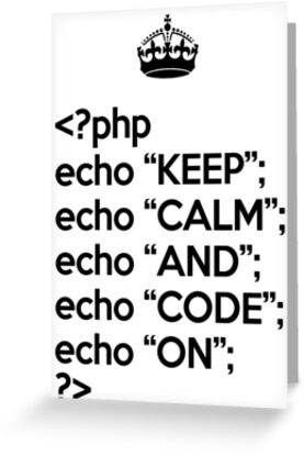 Keep Calm And Code On - PHP - Black by VladTeppi