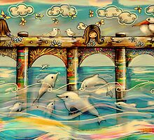 Dolphin Pier by © Cassidy (Karin) Taylor