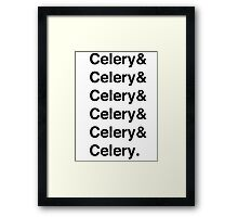Celery & - as worn by Jamie Oliver Framed Print