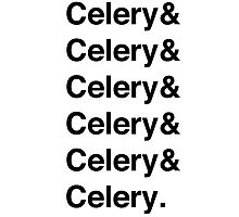 Celery & - as worn by Jamie Oliver Photographic Print