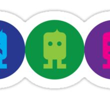 Robot Circle ONE, TWO & THREE Sticker