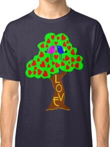 °•Ƹ̵̡Ӝ̵̨̄Ʒ♥Romantic Lovebirds Kissing on a Love-Tree Clothing & Stickers♥Ƹ̵̡Ӝ̵̨̄Ʒ•° Classic T-Shirt