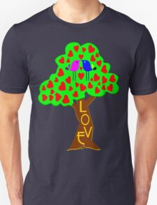 °•Ƹ̵̡Ӝ̵̨̄Ʒ♥Romantic Lovebirds Kissing on a Love-Tree Clothing & Stickers♥Ƹ̵̡Ӝ̵̨̄Ʒ•° Unisex T-Shirt