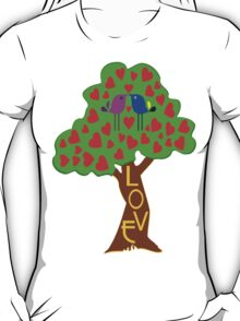 °•Ƹ̵̡Ӝ̵̨̄Ʒ♥Romantic Lovebirds Kissing on a Love-Tree Clothing & Stickers♥Ƹ̵̡Ӝ̵̨̄Ʒ•° T-Shirt