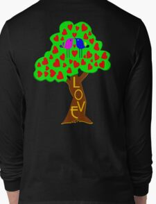 °•Ƹ̵̡Ӝ̵̨̄Ʒ♥Sweet Lovebirds Kissing on a Romantic Love Tree Clothing & Stickers♥Ƹ̵̡Ӝ̵̨̄Ʒ•° Long Sleeve T-Shirt