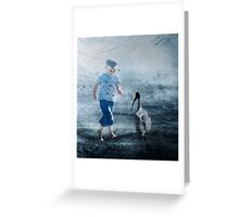 The Boy and the Bird Greeting Card