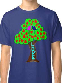 °•Ƹ̵̡Ӝ̵̨̄Ʒ♥Sweet Lovebirds Kissing on a Romantic Love Tree Clothing & Stickers♥Ƹ̵̡Ӝ̵̨̄Ʒ•° Classic T-Shirt
