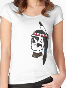 dead indian Women's Fitted Scoop T-Shirt