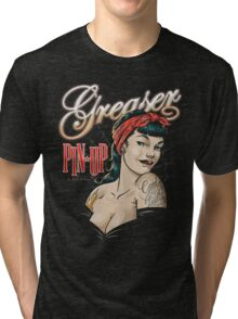 Pin Up greaser Tri-blend T-Shirt
