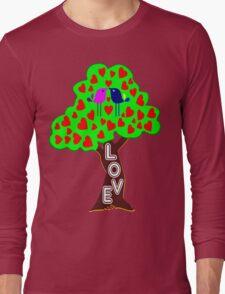 °•Ƹ̵̡Ӝ̵̨̄Ʒ♥Sweet Lovebirds Kissing on a Romantic Love Tree Clothing & Stickers♥Ƹ̵̡Ӝ̵̨̄Ʒ•° Long Sleeve T-Shirt