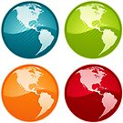 Vibrant Glassy Globe Set - the Americas by totorat