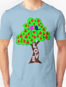 °•Ƹ̵̡Ӝ̵̨̄Ʒ♥Sweet Lovebirds Kissing on a Romantic Love Tree Clothing & Stickers♥Ƹ̵̡Ӝ̵̨̄Ʒ•° Unisex T-Shirt