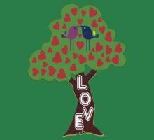 °•Ƹ̵̡Ӝ̵̨̄Ʒ♥Sweet Lovebirds Kissing on a Romantic Love Tree Clothing & Stickers♥Ƹ̵̡Ӝ̵̨̄Ʒ•° by Fantabulous