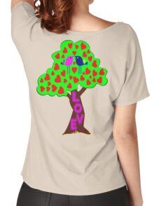 °•Ƹ̵̡Ӝ̵̨̄Ʒ♥Romantic Lovebirds Kissing on a Love-Tree Clothing & Stickers♥Ƹ̵̡Ӝ̵̨̄Ʒ•° Women's Relaxed Fit T-Shirt
