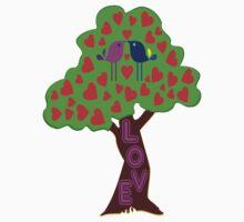 °•Ƹ̵̡Ӝ̵̨̄Ʒ♥Romantic Lovebirds Kissing on a Love-Tree Clothing & Stickers♥Ƹ̵̡Ӝ̵̨̄Ʒ•° Kids Clothes