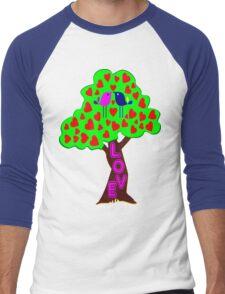 °•Ƹ̵̡Ӝ̵̨̄Ʒ♥Romantic Lovebirds Kissing on a Love-Tree Clothing & Stickers♥Ƹ̵̡Ӝ̵̨̄Ʒ•° Men's Baseball ¾ T-Shirt