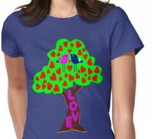 °•Ƹ̵̡Ӝ̵̨̄Ʒ♥Romantic Lovebirds Kissing on a Love-Tree Clothing & Stickers♥Ƹ̵̡Ӝ̵̨̄Ʒ•° Womens Fitted T-Shirt