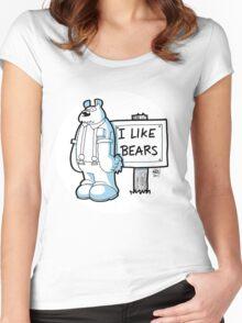 I Like Bears - White Women's Fitted Scoop T-Shirt