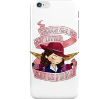 peggy says don't underestimate us iPhone Case/Skin