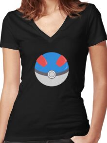 Greatball Women's Fitted V-Neck T-Shirt