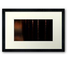 Dripping gold Framed Print