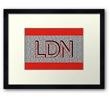 London Boroughs LDN Framed Print