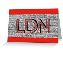 London Boroughs LDN Greeting Card