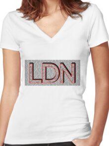 London Boroughs LDN Women's Fitted V-Neck T-Shirt