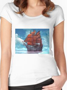 Ship on ice Women's Fitted Scoop T-Shirt