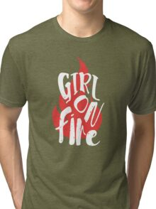 The Girl On Fire Tri-blend T-Shirt