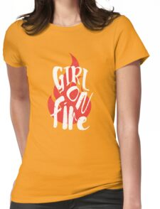 The Girl On Fire Womens Fitted T-Shirt