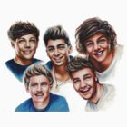1D cartoon style face by vitto00