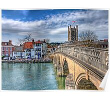 Henley On Thames And The Angel - HDR Poster