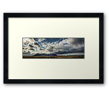 A sea of clouds Framed Print