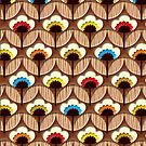 Chocolate Flower Pattern - Apple iPhone 5, iphone 4 4s, iPhone 3Gs, iPod Touch 4g case by Pointsalestore .com