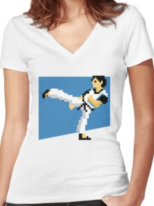 Kung-Fu Master T-Shirt - Inspired by Kung-Fu  Women's Fitted V-Neck T-Shirt