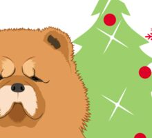 Chow Chow Ugly Christmas Sweater Sticker