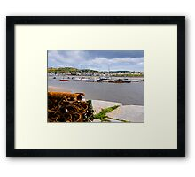 Conway Harbour North Wales Framed Print