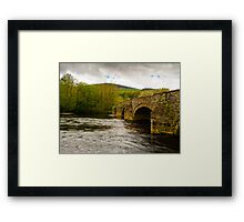Cymer Bridge North Wales Framed Print