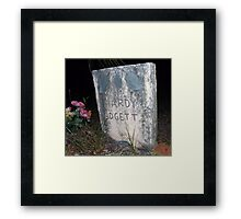 Padgett Grave Stone Artistic Photograph by Shannon Sears Framed Print