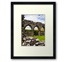Cymer Abbey Ruins Framed Print