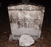 Padgett Tomb Stone Artistic Photograph by Shannon Sears by twobrokesistas