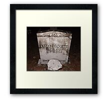 Padgett Tomb Stone Artistic Photograph by Shannon Sears Framed Print
