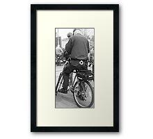Bicycle Cop Framed Print