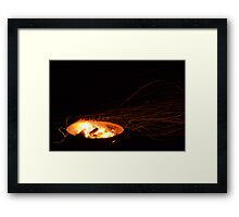 Fire Flies and Empty Skies Framed Print
