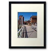 West Mills Swing Bridge Newbury Framed Print