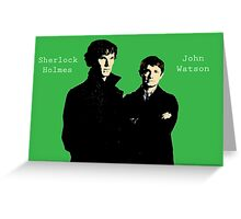 Sherlock and Watson Greeting Card