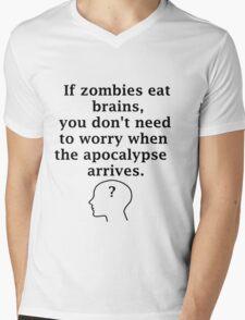 No Brains! Mens V-Neck T-Shirt